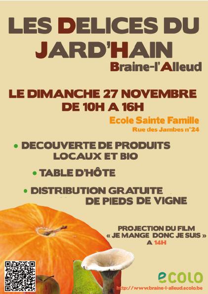 Di 27/11 – Les Délices du Jard'Hain