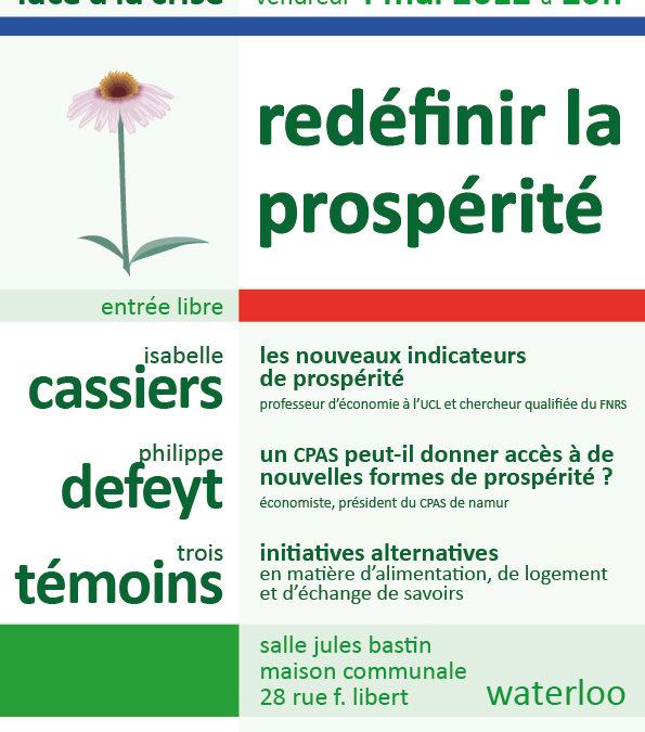 Ve 4/5 – Conférence «Redéfinir la prospérité»