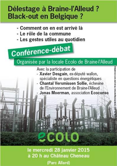 Me 28/1 – Conférence-débat «Délestage, Black-out»