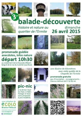 Di 26/4 – 3ème balade-découverte : histoire et nature au quartier de l'Ermite