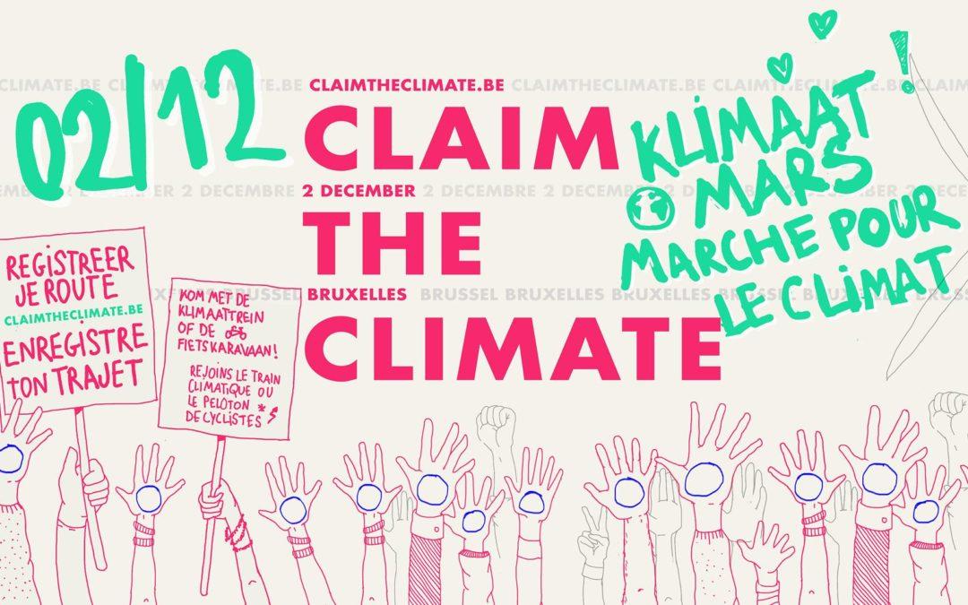 Dimanche 02/12 : Venez manifester pour le climat à Bruxelles !